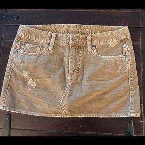 American Eagle Corduroy Mini Skirt Size 2 NWT